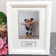 40th Birthday Photo Frame White Wood 4x6 Photo