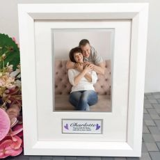 60th Birthday Photo Frame White Wood 4x6 Photo
