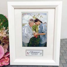 90th Birthday Photo Frame White Wood 4x6 Photo