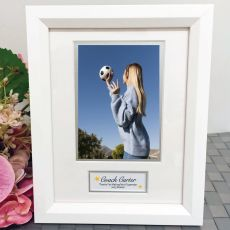 Coach Photo Frame White Wood 4x6 Photo
