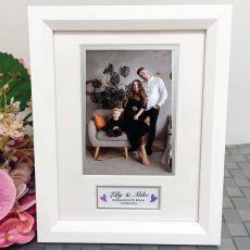 Godparents Photo Frame White Wood 4x6 Photo
