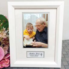 Memorial Photo Frame White Wood 4x6 Photo