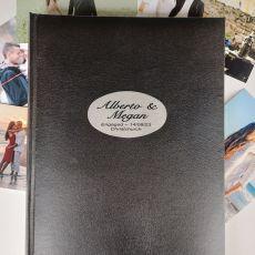 Personalised Engagement Album 300 Photo Black