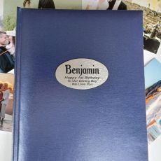 Personalised 1st Birthday Album 300 Photo Blue