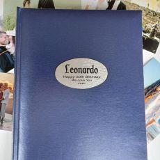 Personalised 50th Birthday Album 300 Photo Blue