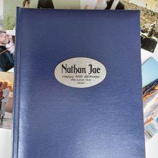 Personalised 80th Birthday Album 300 Photo Blue