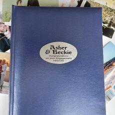 Personalised Enagagement Album 300 Photo Blue