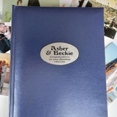 Personalised Wedding Album 300 Photo Blue