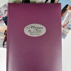 Personalised  Memorial  Album 300 Photo Rose