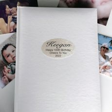Personalised 100th Birthday Album 300 Photo White