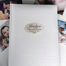 Personalised 40th Birthday Album 300 Photo White