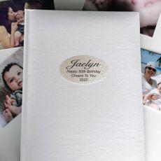 Personalised 50th Birthday Album 300 Photo White