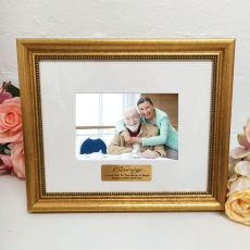 100th Birthday Photo Frame 4x6 Majestic Gold