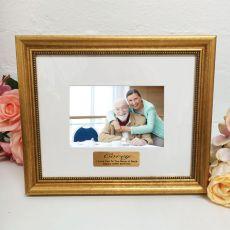 100th Birthday Photo Frame 4x6 Majestic Gold
