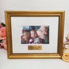 Christening Photo Frame 4x6 Majestic Gold