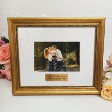 Godparents Photo Frame 4x6 Majestic Gold