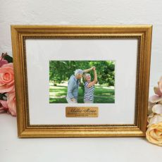 Memorial Photo Frame 4x6 Majestic Gold