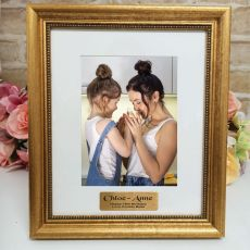 16th Birthday Personalised Frame 5x7 Majestic Gold