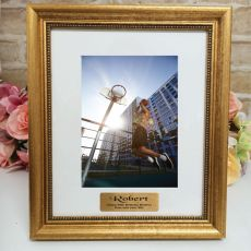 40th Birthday Personalised Frame 5x7 Majestic Gold