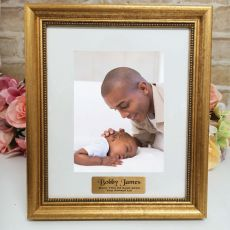 Baby Personalised Frame 5x7 Majestic Gold
