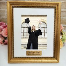 Graduation Personalised Frame 5x7 Majestic Gold