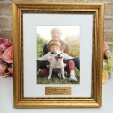 Pet Memorial Personalised Frame 5x7 Majestic Gold