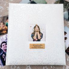18th Birthday Drymount Photo Album Lace