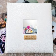 Personalised Birthday Drymount Photo Album Lace