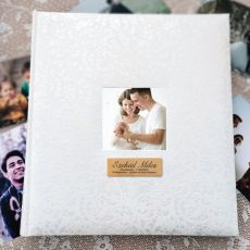 Christening Drymount Photo Album Lace