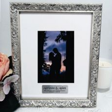 Engagement Personalised Silver Photo Frame Louvre 4x6