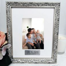 Godparents Personalised Ornate Silver Photo Frame Louvre 4x6