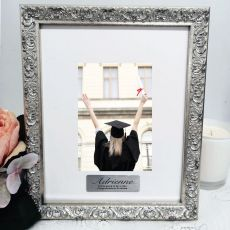 Graduation Personalised Ornate Silver Photo Frame Louvre 4x6