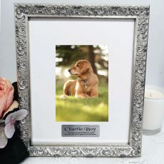 Pet Memorial Personalised Ornate Silver Photo Frame Louvre 4x6