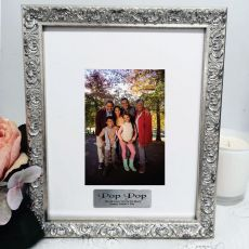Pop Personalised Ornate Silver Photo Frame Louvre 4x6