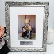 Uncle Personalised Ornate Silver Photo Frame Louvre 4x6