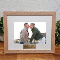 50th Birthday Photo Frame Victorian Ash Solid Wood
