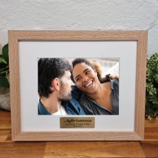 Personalised Photo Frame Victorian Ash Solid Wood