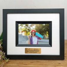18th Birthday Personalised Photo Frame Silhouette Black 4x6