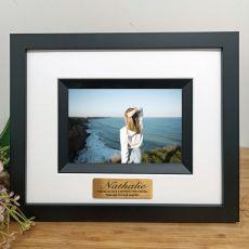 40th Birthday Personalised Photo Frame Silhouette Black 4x6