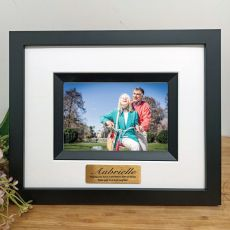 60th Birthday Personalised Photo Frame Silhouette Black 4x6