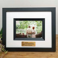 90th Birthday Personalised Photo Frame Silhouette Black 4x6