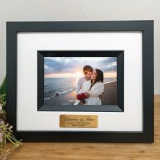 Engagement Photo Frame Silhouette Black 4x6