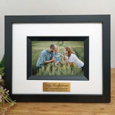 Godparent Personalised Photo Frame Silhouette Black 4x6