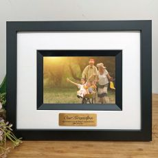 Grandpa Personalised Photo Frame Silhouette Black 4x6
