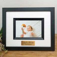 Naming Day Personalised Photo Frame Silhouette Black 4x6