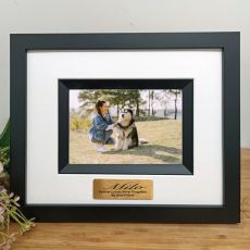 Pet Memorial Personalised Photo Frame Silhouette Black 4x6