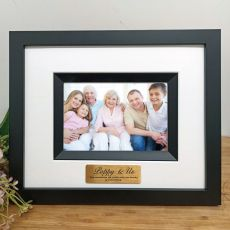 Pop Personalised Photo Frame Silhouette Black 4x6