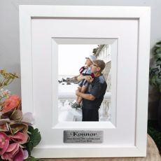 60th Birthday Personalised Photo Frame Silhouette White 4x6