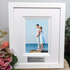 Engagement Photo Frame Silhouette White 4x6