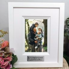 Godparent Personalised Photo Frame Silhouette White 4x6